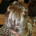 Special Occasion Bridal Hair Up-Do - Bride top. Stylist: Hope