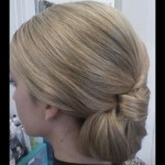 Bridal Hair Up-Do - Bridesmaid side. Stylist: Hope