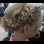 Special Occasion Up-Do - Bridesmaid braiding. Stylist: Hope