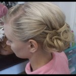 Special Occasion Up-Do - Bridesmaid side. Stylist: Hope